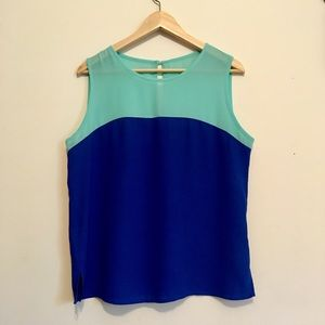 Forever 21 teal blue contrast top